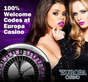 100% Welcome Codes at Europa Casino 007bets.com